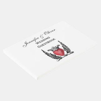 Libro De Visitas Corazón heráldico con el escudo del escudo de