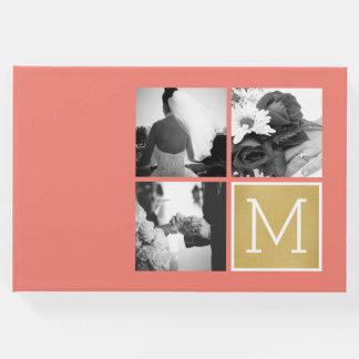 Libro De Visitas Cree su propio monograma del collage de la foto