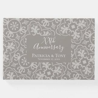 Libro De Visitas Cualquie aniversario de boda - fondo del modelo de