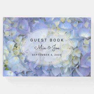 Libro de visitas de encargo del boda del Hydrangea