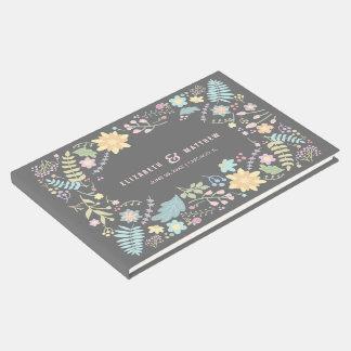 Libro de visitas de encargo romántico del boda del