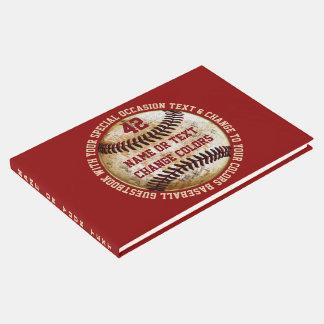 Libro de visitas del béisbol con su texto y