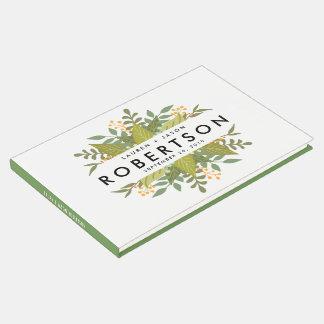 Libro de visitas del boda, Boho floral, boda del
