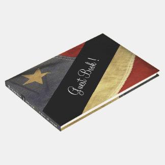 Libro de visitas del boda de la bandera americana