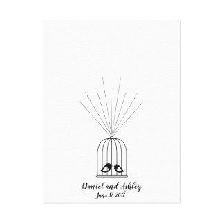 Libro de visitas del boda de la huella dactilar de