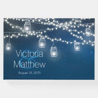 Libro de visitas del boda de la luz de la