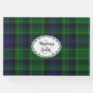 Libro de visitas del boda de la tela escocesa de
