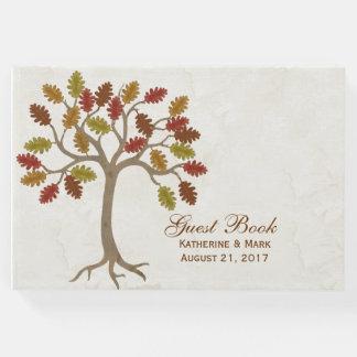Libro de visitas del boda del árbol de la caída