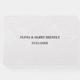 Libro de visitas del boda - floral blanco elegante