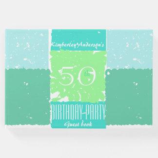 Libro de visitas del cumpleaños de los colores de