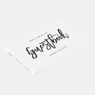 Libro de visitas EDITABLE cepillado del boda del
