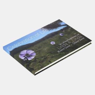 Libro De Visitas El lino azul florece el monumento de la fotografía