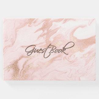 Libro De Visitas El oro color de rosa y se ruboriza veteado casando