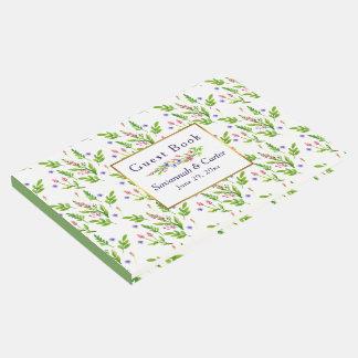 Libro De Visitas El verano clásico florece el boda
