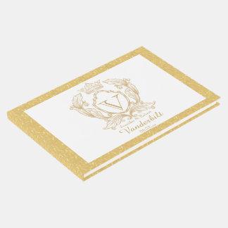 Libro de visitas elegante del boda del monograma