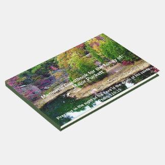 Libro De Visitas En memoria de registro fúnebre conmemorativo de la