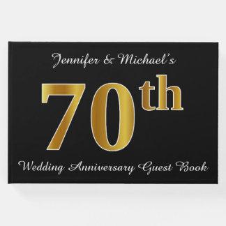 Libro De Visitas Falso aniversario de boda de la mirada 70.a del