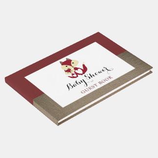 Libro De Visitas Fiesta de bienvenida al bebé de la arpillera del