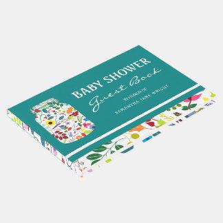 Libro De Visitas Fiesta de bienvenida al bebé floral del tarro de