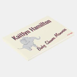 Libro De Visitas Fiesta de bienvenida al bebé linda del elefante el