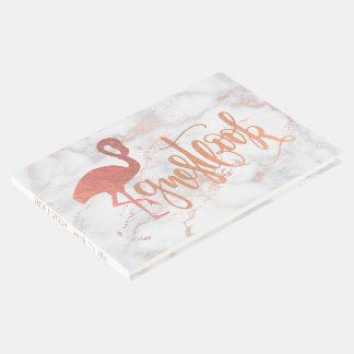 Libro De Visitas flamenco color de rosa del efecto del efecto