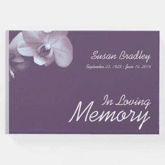 Libro de visitas floral del entierro de la