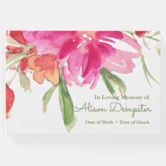Libro de visitas fúnebre conmemorativo floral de