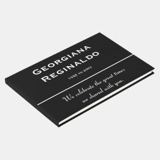 Libro de visitas fúnebre mínimo y respetable