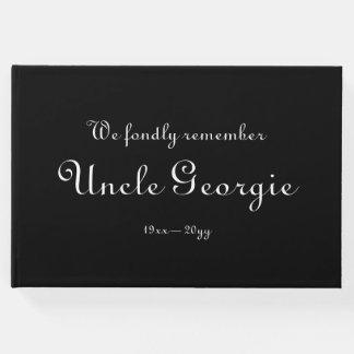 Libro de visitas fúnebre respetable, personalizado