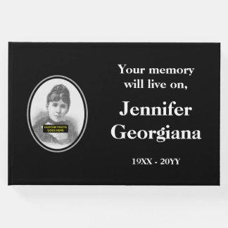 Libro de visitas fúnebre respetable y