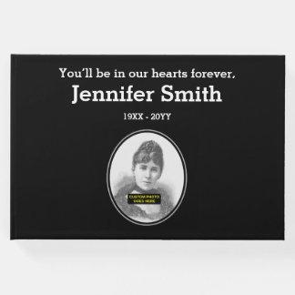 Libro de visitas fúnebre respetable y llano