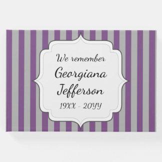 Libro De Visitas Guestbook conmemorativo fúnebre