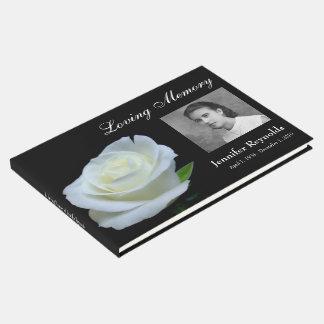 Libro De Visitas Guestbook conmemorativo o fúnebre