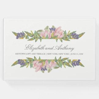 Libro De Visitas Guestbook dulce del boda de la magnolia