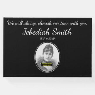 Libro De Visitas Guestbook elegante y simple de las condolencias
