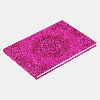 Libro De Visitas Guestbook rosado del caleidoscopio de la flor