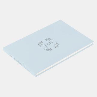 Libro De Visitas Guestbook simple del boda del monograma