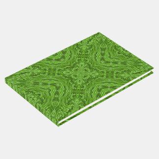 Libro De Visitas Guestbook verde del caleidoscopio   que va