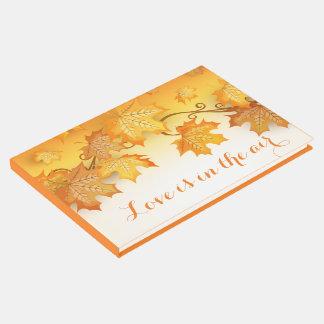 Libro De Visitas La caída anaranjada del amor rústico deja el boda