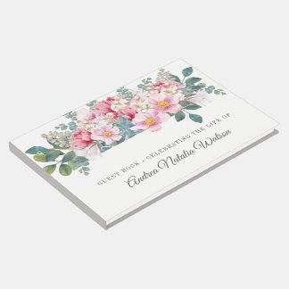 Libro De Visitas La huésped fúnebre del jardín fragante firma