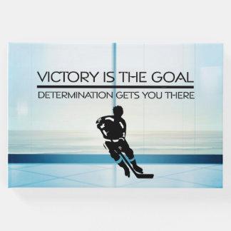 Libro De Visitas Lema SUPERIOR de la victoria del hockey