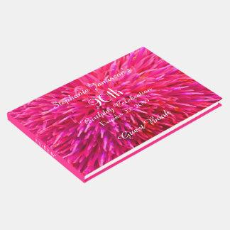 Libro De Visitas Memoria de la fiesta de cumpleaños del rosa y de