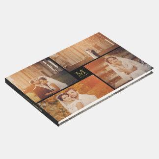 Libro de visitas moderno del collage de la foto
