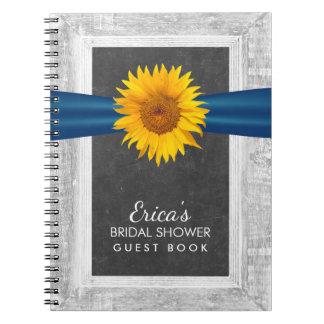 Libro de visitas nupcial de la ducha de la cinta cuaderno