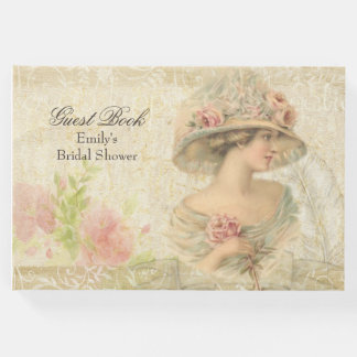 Libro de visitas nupcial de la ducha de la mujer
