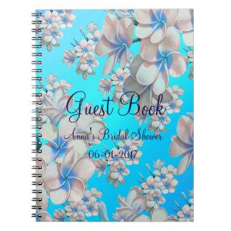 Libro de visitas nupcial floral de la ducha del cuadernos