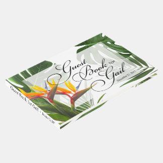Libro de visitas para Gail - hojas tropicales