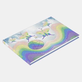 Libro De Visitas Pentáculo Handfasting de la mariposa de la prisma
