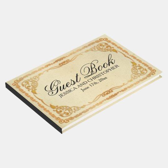 Libro de visitas personalizado del boda del marco