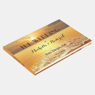 Libro de visitas personalizado puesta del sol del